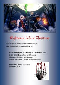 Flyer Nightmare before Christmas